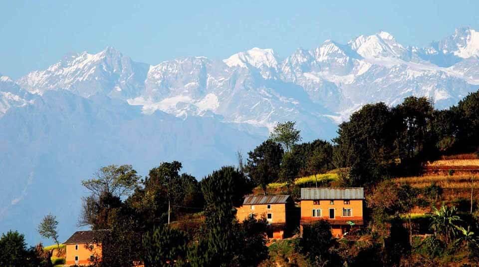 mountains in Nagarkot