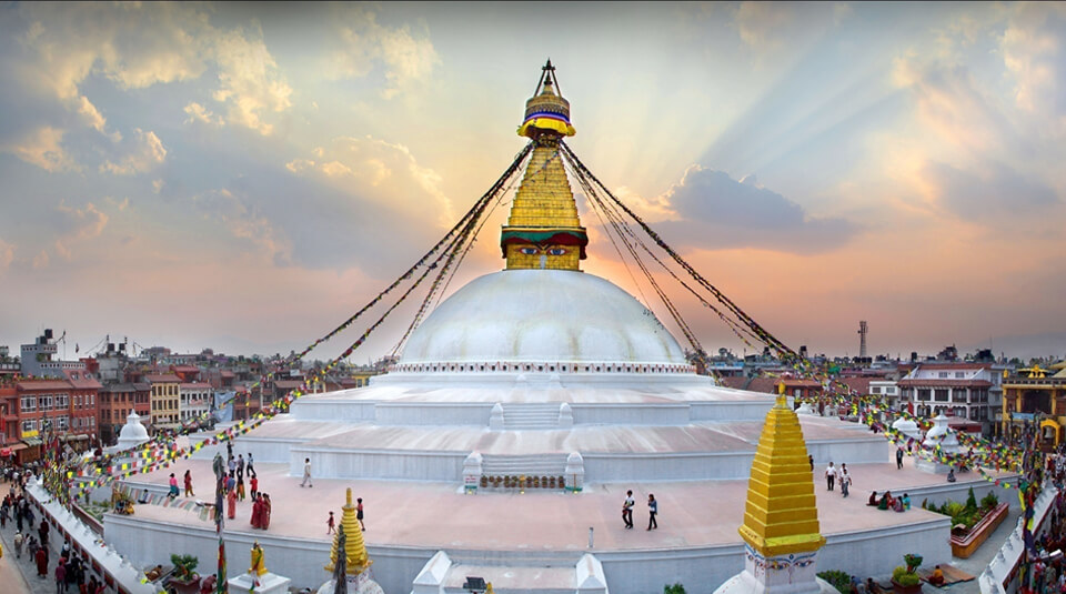 Boudhanath Stupa in the evening